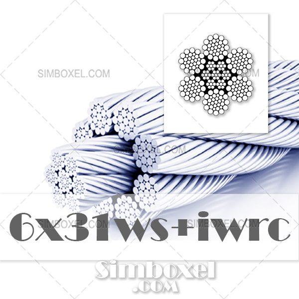 6x31WS+IWRC سیم بکسل فولادی